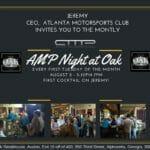 August 2 – Enjoy a drink on Jeremy, CEO, AMP!