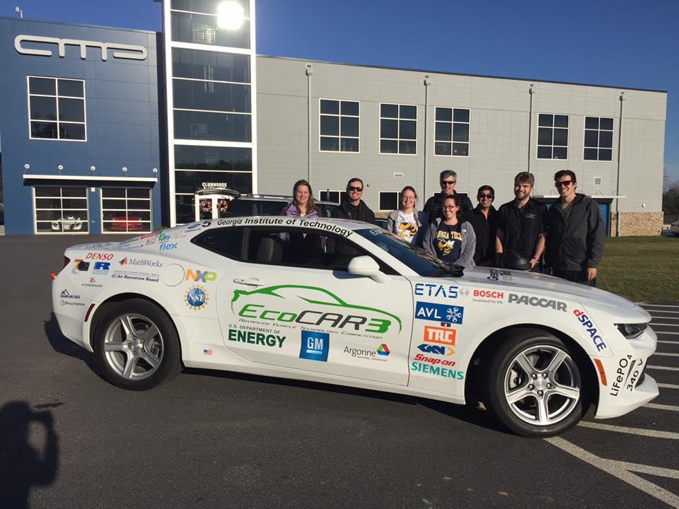 25348624 10155157550773321 5034691890222101685 n - Georgia Tech's SAE team tests electric car at AMP