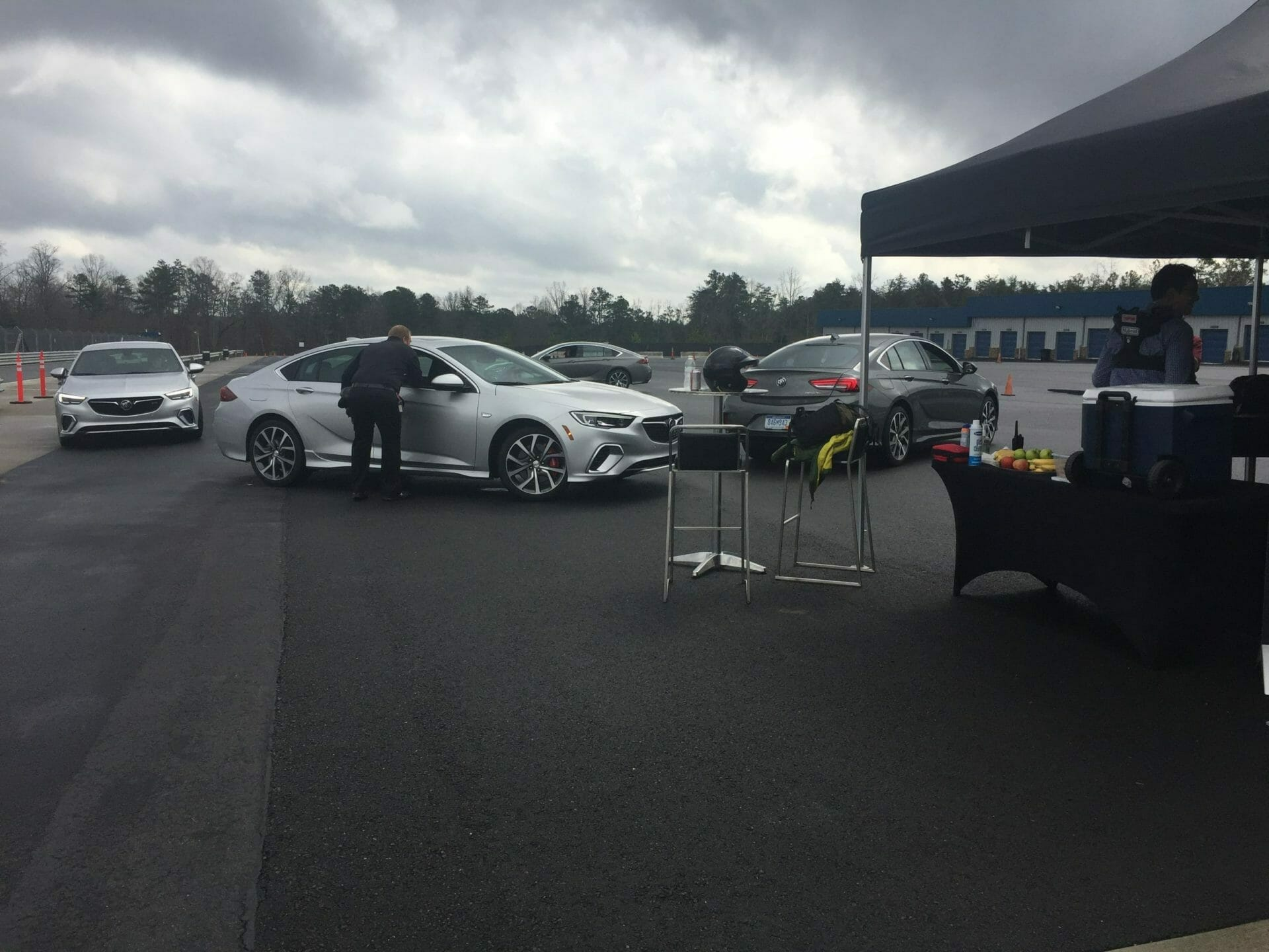 Buick brings journalist to AMP for stunt driving with Bobby Ore Motorsports
