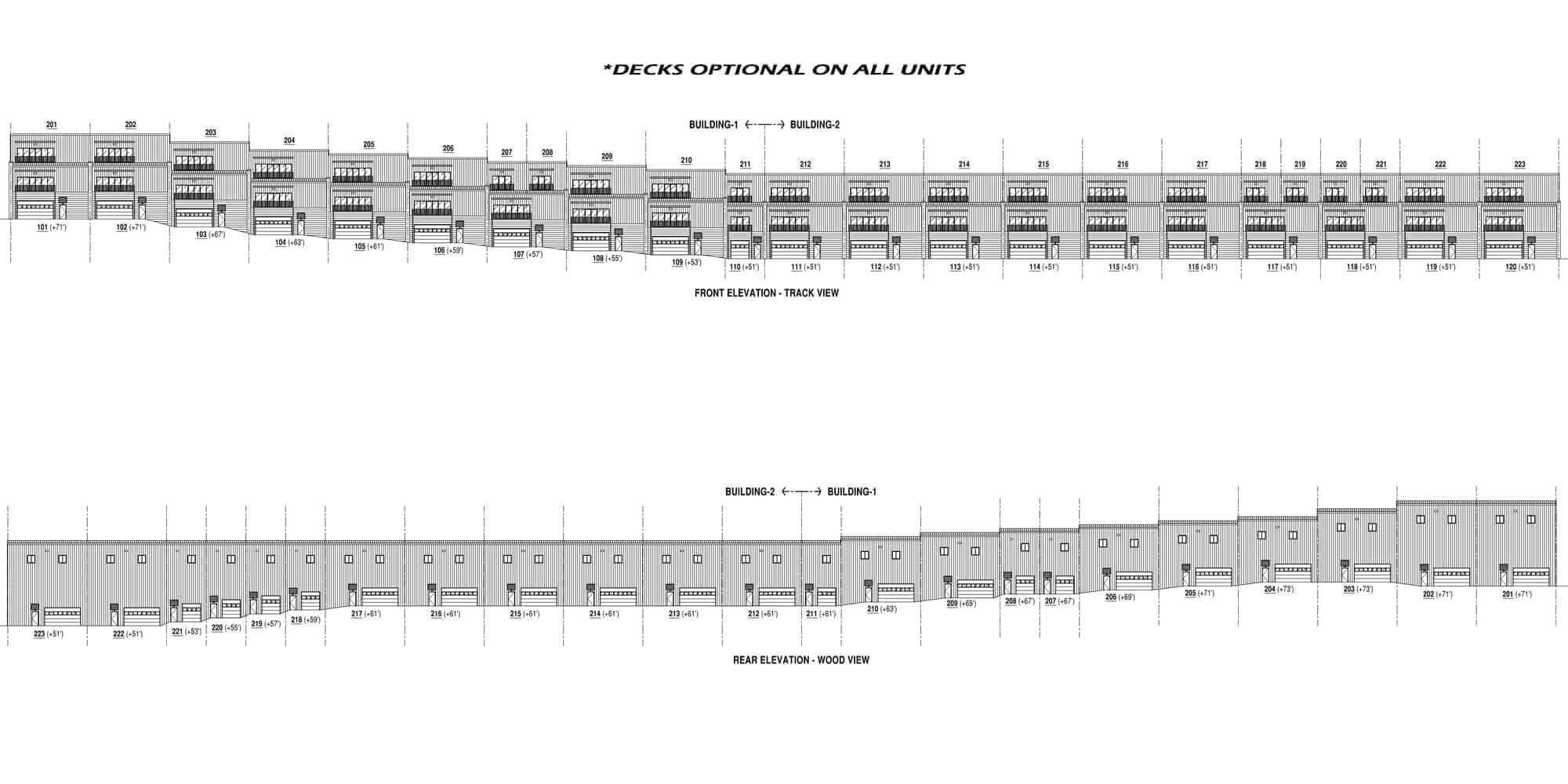 decks - TRACKSIDE CONDOS ON SALE